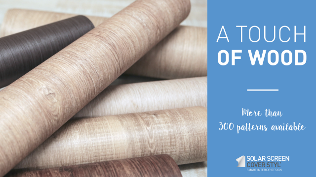 Natural and textured adhesive coverings: Cover Styl'® wood range -