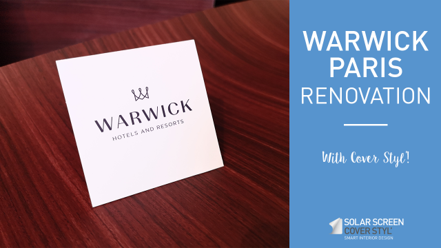 Warwick Paris hotel renovation with Cover Styl'® adhesive coverings -