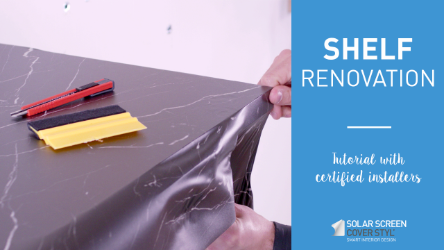 How to renovate a shelf with Cover Styl'® adhesive coverings? -