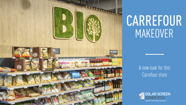 Makeover of a Carrefour store with Cover Styl' adhesive films -