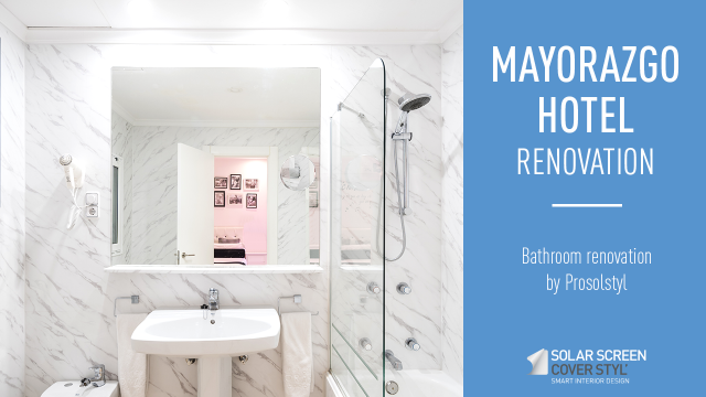 Bathrooms renovation of the Mayorazgo hotel with Cover Styl' coverings -