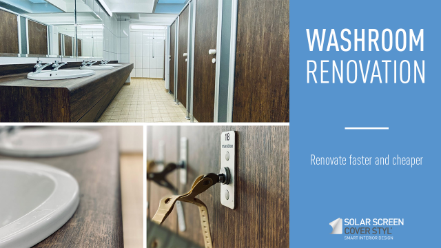 How to renovate your washrooms faster and cheaper? -
