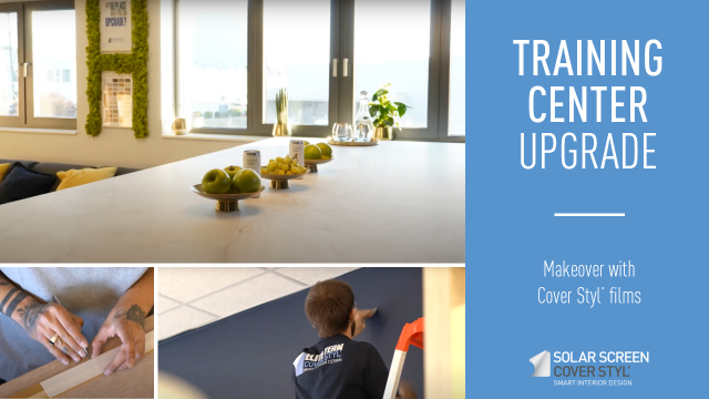Upgrade of our Cover Styl' training room with our architectural films -
